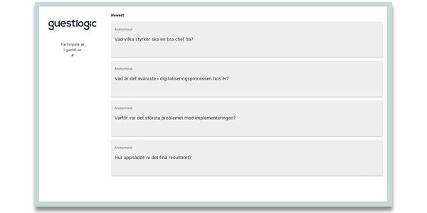 interaktion pa event guestlogic