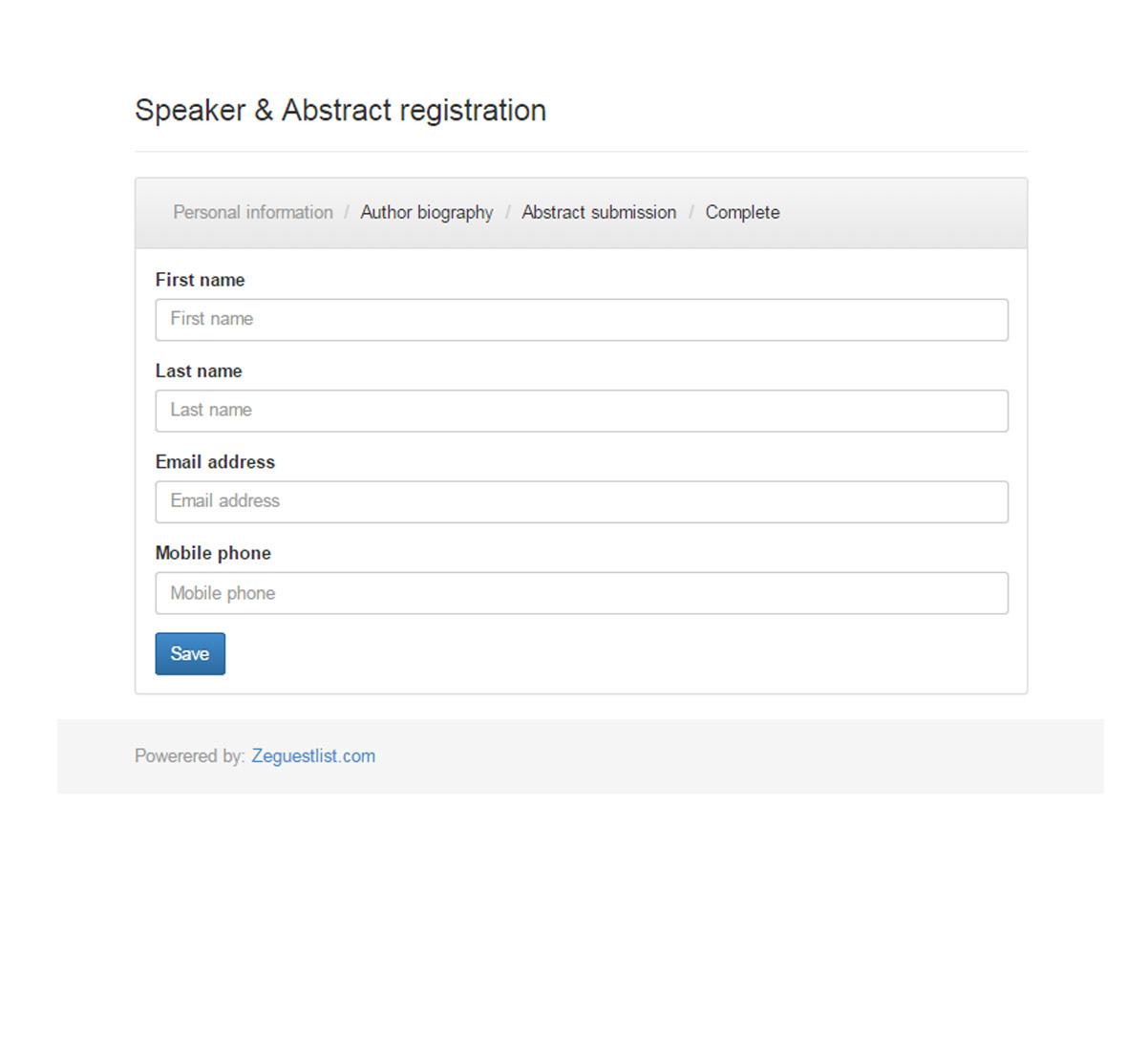 registreringssida föreläsare